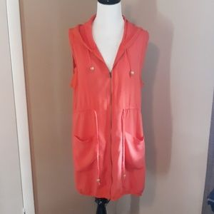 Skye drawstring hooded vest size XL